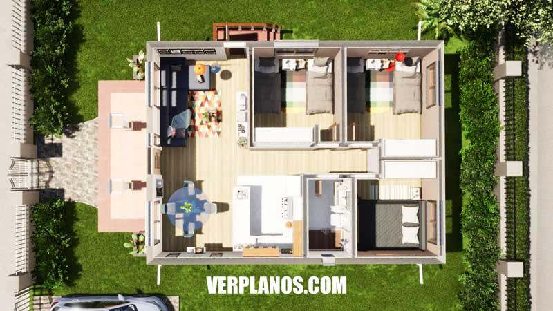 Vista previa plano en planta plano de casa