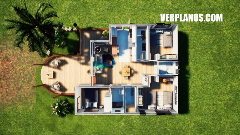 Vista previa plano de casa en planta