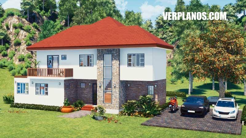 fachada plano de casa