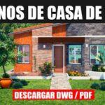 plano de casa con fachada moderna de 3 dormitorios descargar gratis