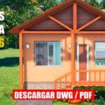 plano de casa de 1 piso con 2 dormitorios social economica