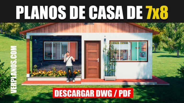Descargar Plano de casa económica con 2 habitaciones (DWG ...