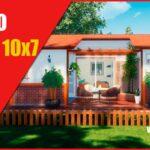 plano de casa economica de 1 piso y dos habitaciones con medidas dwg para autocad y pdf gratis