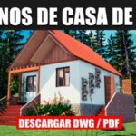 plano de casa economica 1 piso con medidas autocad