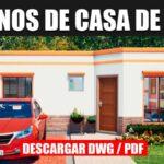 plano de casa pequeña con medidas dwg y pdf