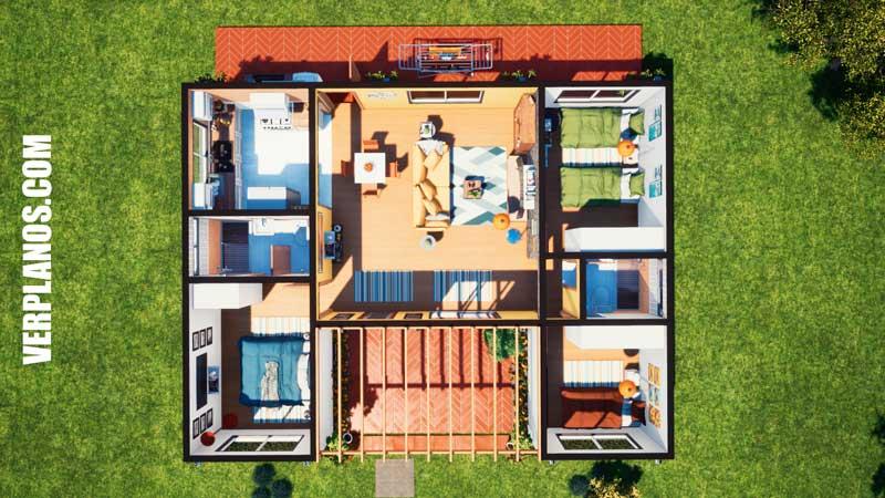 planta plano de casa