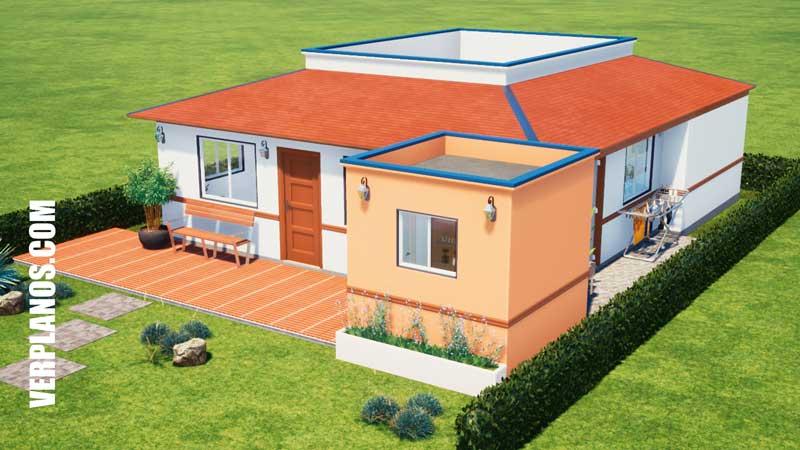 fachada plano de casa vista previa