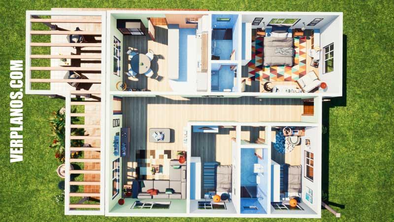vista previa plano de casa planta