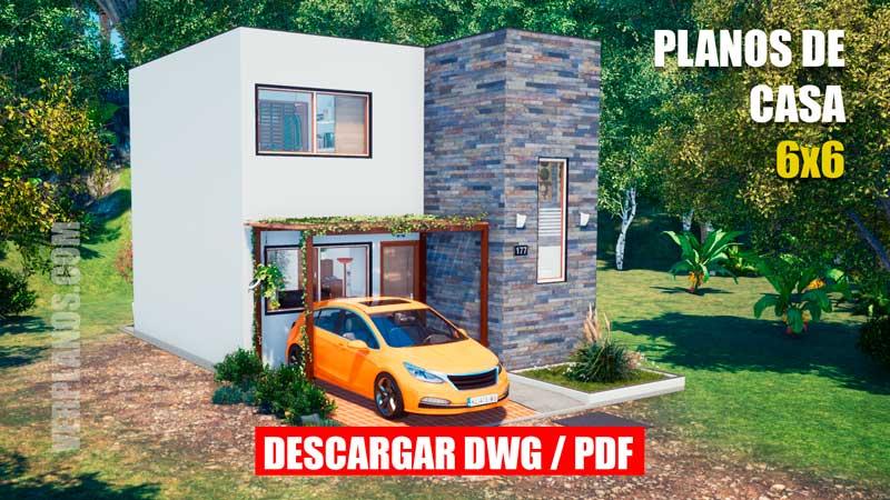 Plano de casa de 1 piso con 3 dormitorios 2 baños