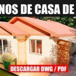 plano de casa de 1 piso con 3 dormitorios economica en autocad y pdf