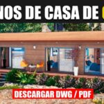 plano de casa de 1 piso y 2 habitaciones minimalista dwg autocad gratis