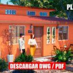 Plano de casa de 1 piso y 3 dormitorios económico gratis pequeño