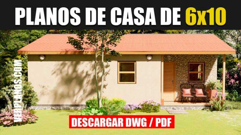plano de casa economica 1 piso 3 dormitorios dwg para autocad