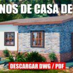 plano de casa economica llamativa con medidas en formato dwg para autocad