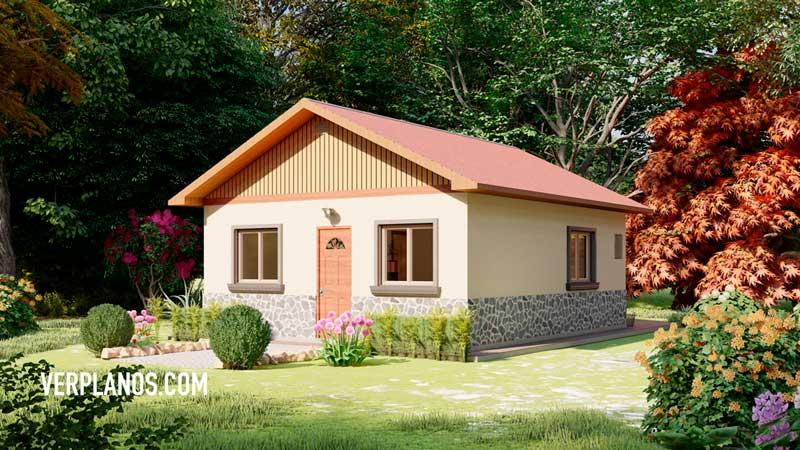 Plano de casa fachada