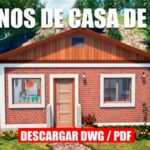 plano de casa pequeño económico social con medidas dwg para autocad
