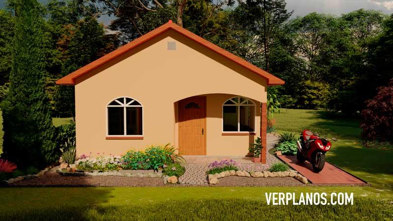 Fachada casa plano