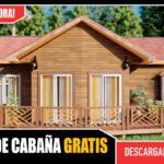 Planos de Cabaña o Casa Campestre prefabricada de 1 piso 3 dormitorios 2 baños