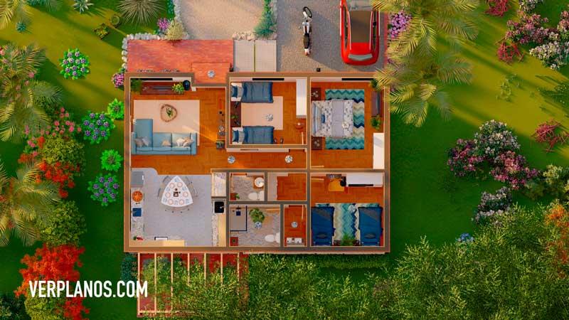 Vista previa plano de casa