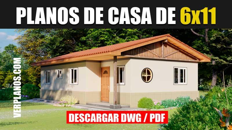 planos de casa de 1 piso con 3 dormitorios 2 baños gratis en autocad y pdf