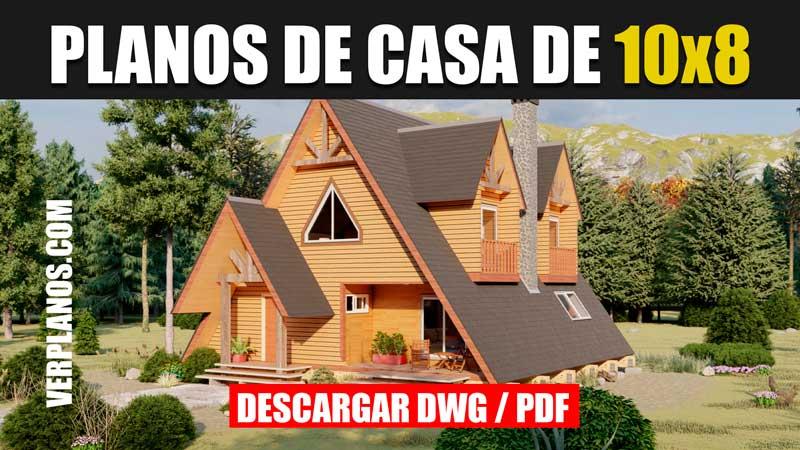 planos de casa alpina 2 pisos 2 dormitorios 2 baños en autocad y pdf gratis