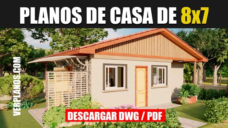 planos de casa de 1 piso con 3 dormitorios 1 baño gratis en autocad y pdf