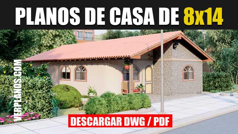 planos de casa colonial 1 piso 3 dormitorios 2 baños gratis en autocad y pdf