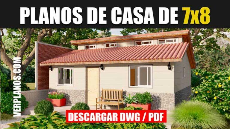Planos de casa economica pequeña de 1 piso y 3 dormitorios 2 baños gratis en autocad y pdf