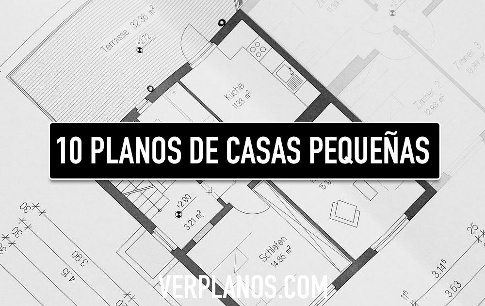 10 Diseños de planos de casas pequeñas y económicas para descargar gratis en Autocad y PDF