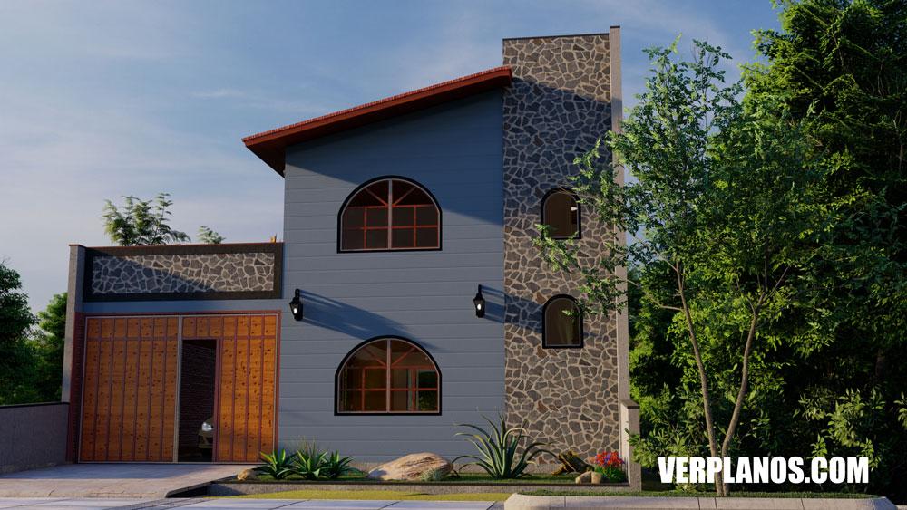 Vista previa fachada plano de casa