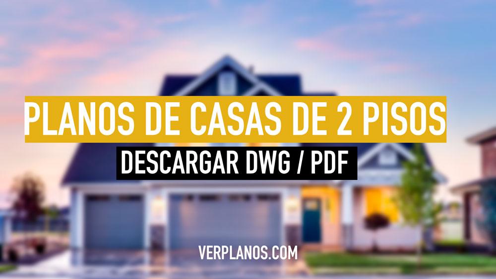 planos de casas de 2 pisos economicas y pequeñas para descargar dwg