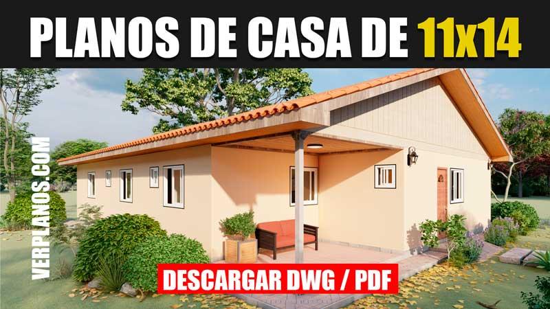 planos de casa de un piso tres dormitorios en autocad y pdf gratis