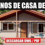 plano de casa prefabricada 1 piso 2 dormitorios 1 baño gratis en autocad y pdf