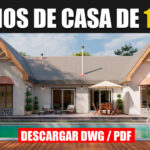 Planos de casa de 1 piso con 3 dormitorios y 2 baños gratis con medidas