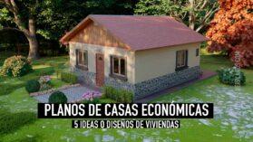 5 Planos de casas económicas prefabricadas para descargar en formato para Autocad y PDF ¡Gratis!