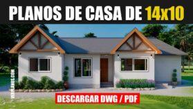 Planos de casa de campo de 3 dormitorios 2 baños gratis en autocad y PDF
