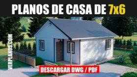 Plano de casa pequeña gratis en autocad y pdf economica 1 piso 3 dormitorios 1 baño