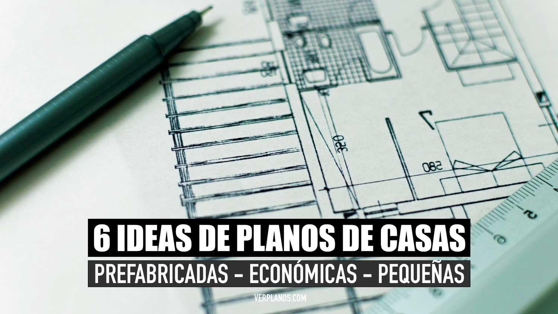 Planos de casas prefabricadas económicas y pequeñas en Autocad y PDF