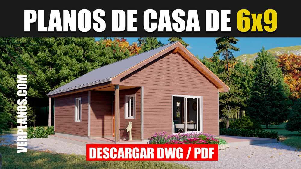 Planos de casa prefabricada de 1 piso con 3 dormitorios 1 baño perfecta para cabaña en autocad y pdf