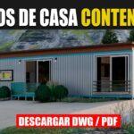 Descargar plano de una casa contenedor 1 piso 1 dormitorio 1 baño gratis en autocad y pdf