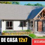 Plano de casa acogedora y hernmosa con 3 dormitorios 2 baños gratis en autocad y pdf descargar