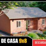 Plano de casa económica de 1 piso con 3 dormitorios 1 baño gratis en autocad gratis descargar