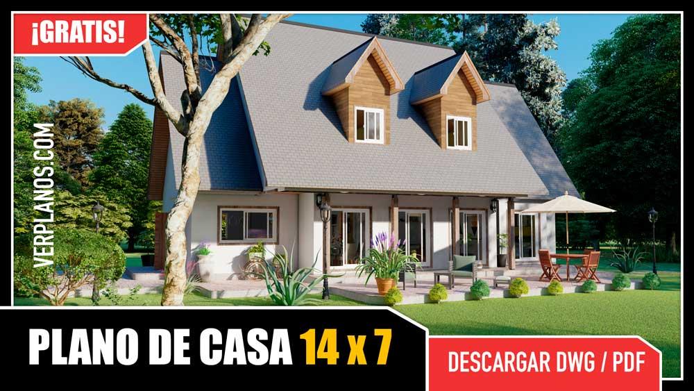 plano de casa de 2 pisos con 3 dormitorios y 3 baños gratis en autocad y pdf descargar