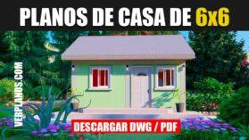 Plano de casa pequeña y económica gratis en Autocad y PDF ¡DESCARGAR!