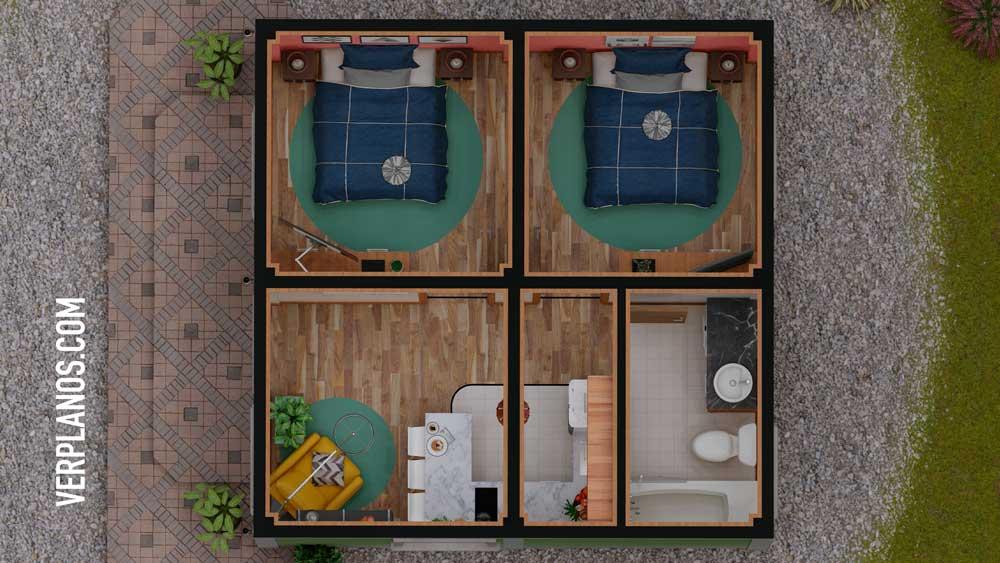 Vista previa planta plano de casa económica