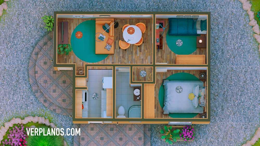 Vista previa planta plano de casa