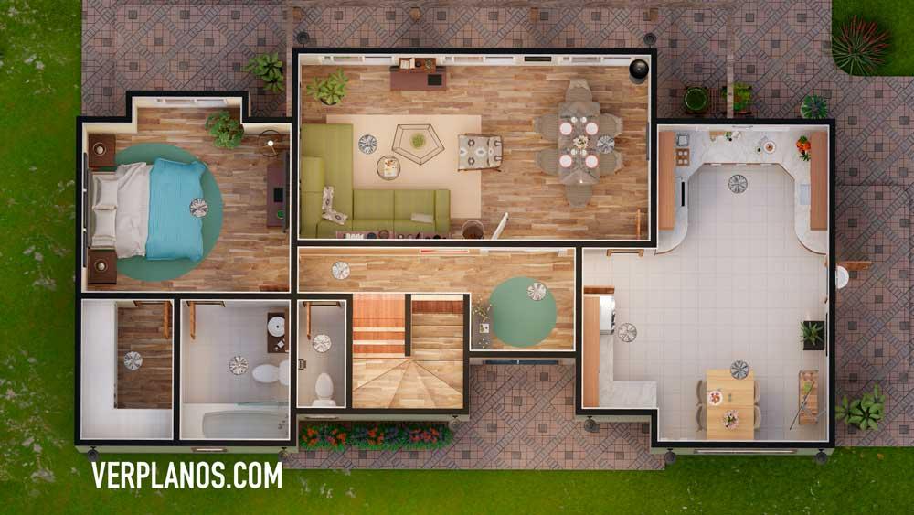 vista previa planta primer piso plano de casa