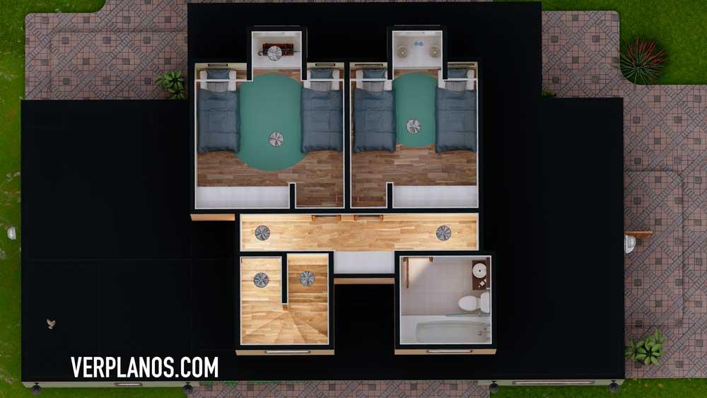 vista previa planta segundo piso plano de casa