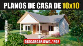 Plano de casa gratis 3 dormitorios 2 baños en autocad y pdf gratis