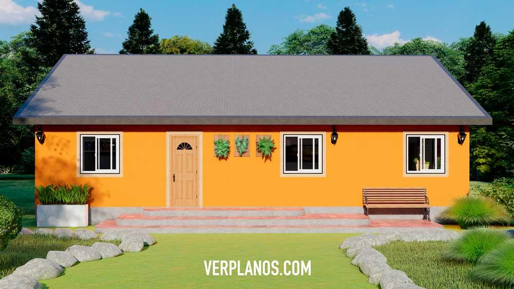 Vista previa de su fachada y plano de casa
